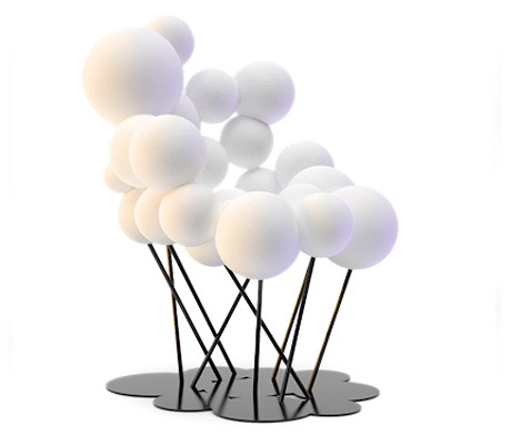 Baloon chairComfortable and cosy.The Baloon lounge chair is a part of a set of a chair, lounge chair and a stool resembling a bunch of baloons with their shadows underneath. 